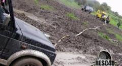 חילוץ גיפ סמוראי תקוע בבוץ בגולן Resc4U